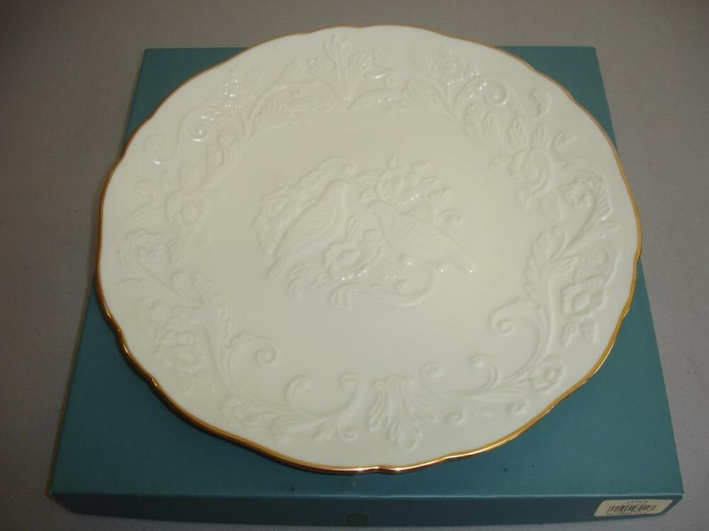 "Lenox Wedding Gifts: Lenox 12"" Plate In Honor Of The 50th Wedding Anniversary"
