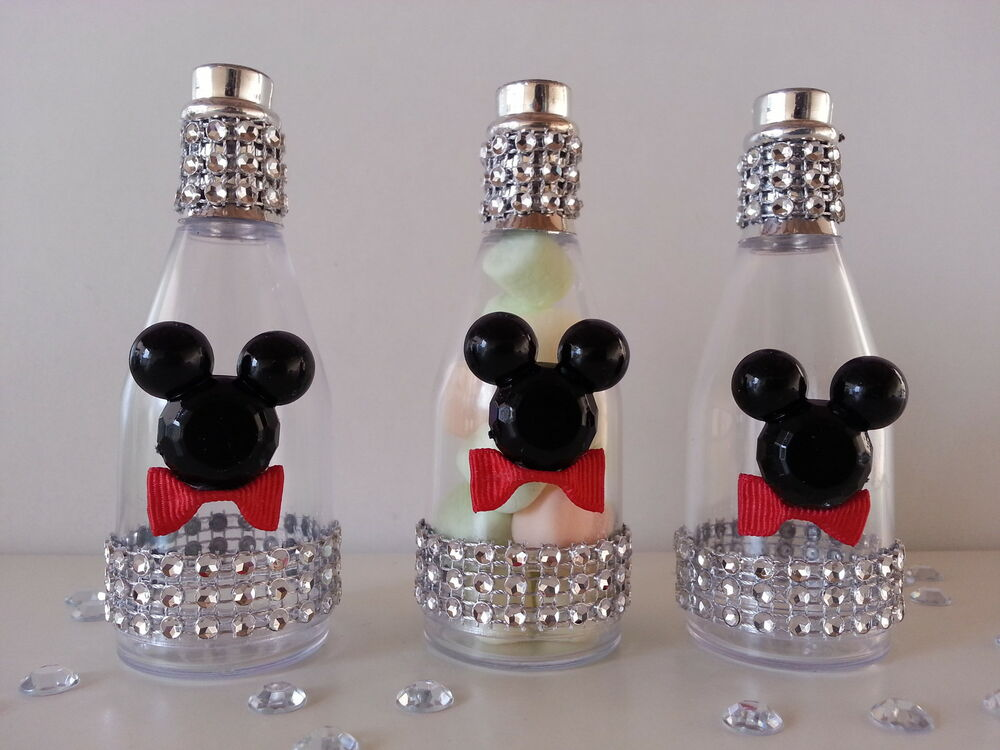 12 mickey mouse fillable champagne bottles baby shower favors prizes
