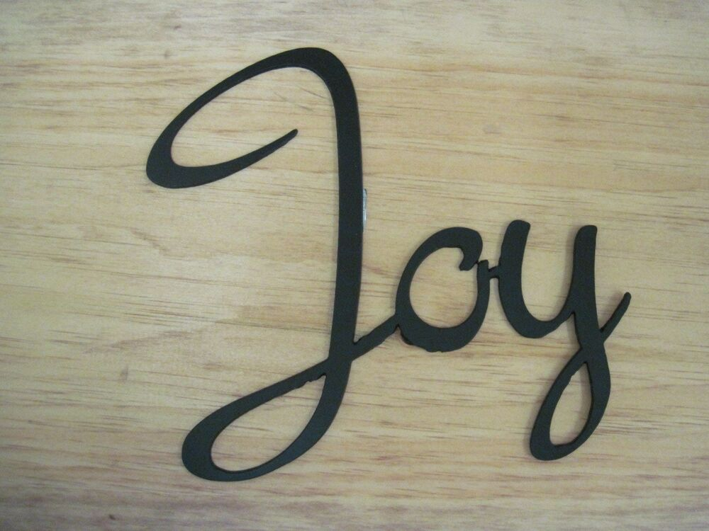 Joy-Black Wrought Iron Wall Art Metal Home Decor Primitive