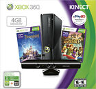 Microsoft Xbox 360 Kinect Holiday Bundle 4 GB Black Console