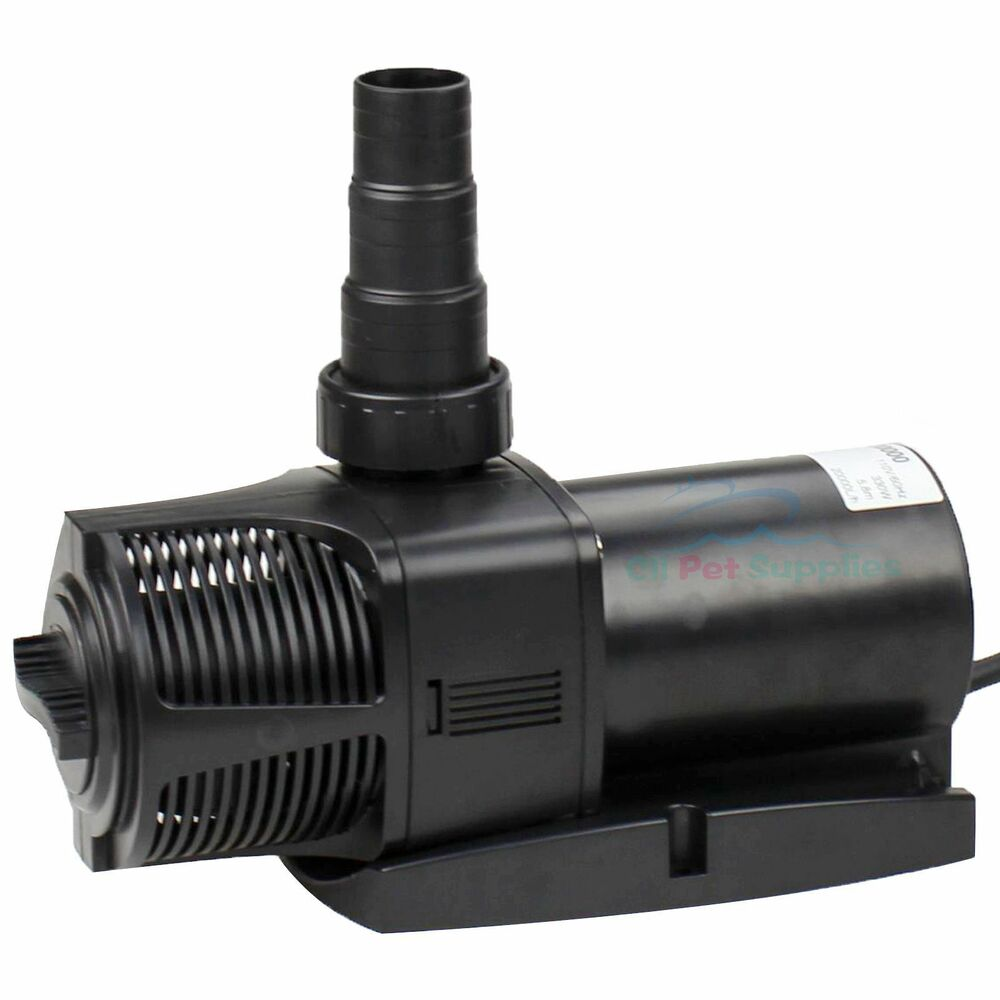 5300 gph aquarium fish pond water pump submersible for Garden pond pump filters