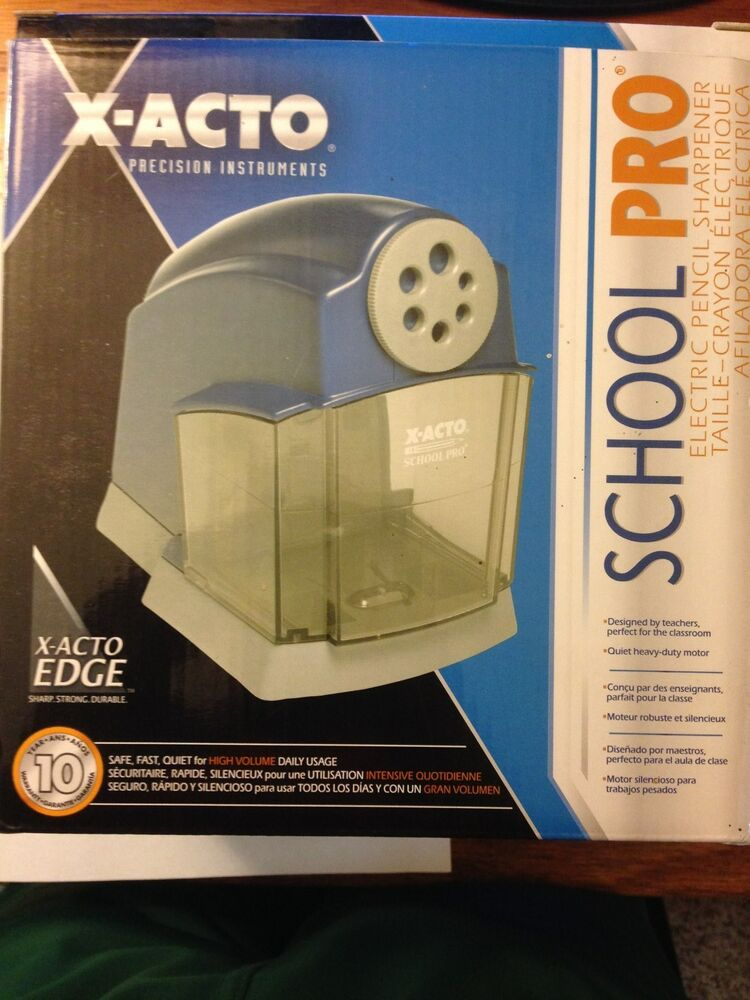 Xacto X-Acto School Pro Electric Pencil Sharpener 1670 | eBay X Acto Electric Pencil Sharpener