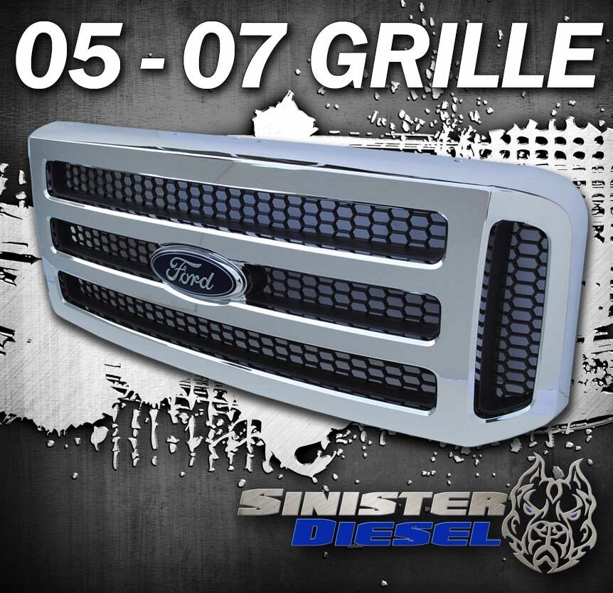 2005-07 Ford CHROME Grill F250 F350 Super Duty Excursion Grille | eBay