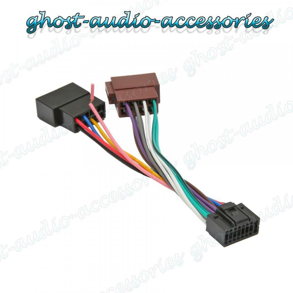Jvc 16 Pin Car Stereo Radio Iso Wiring Harness Connector Adaptor Accessories Cable 100