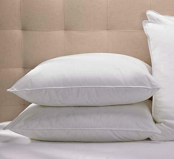Luxury goose feather down pillows free pillow for Duck or goose feather pillows which is better