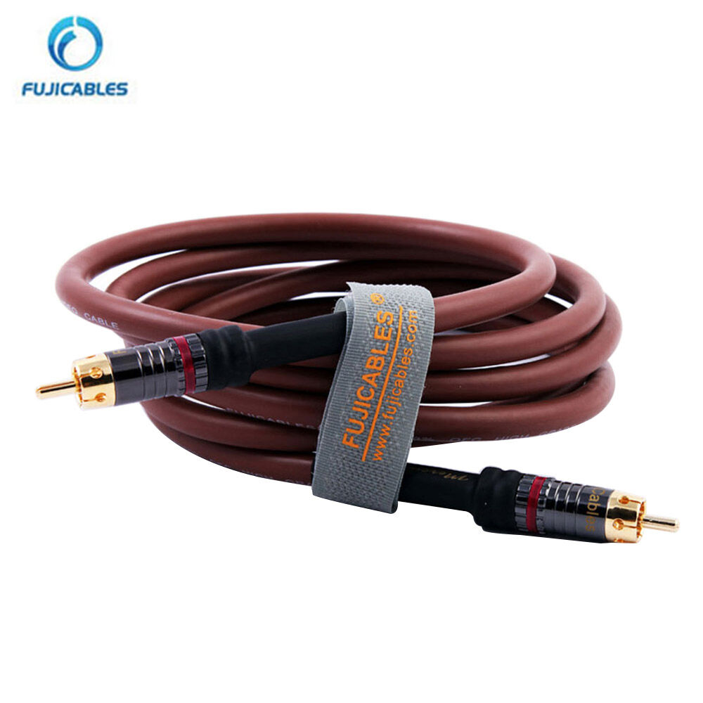 high quality digital coaxial rca audio video cable hifi stereo subwoofer cables ebay. Black Bedroom Furniture Sets. Home Design Ideas