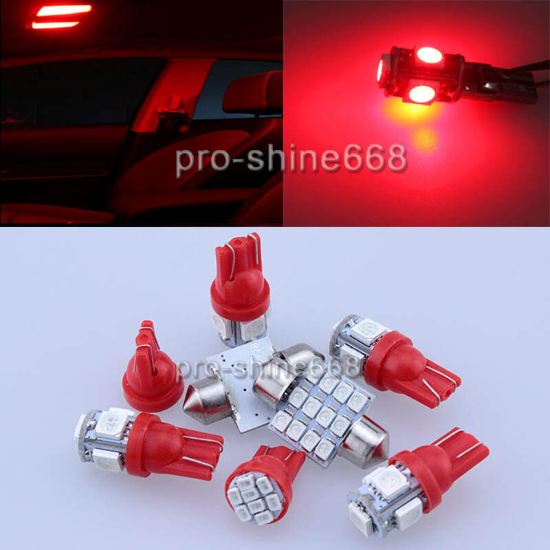 Smd Led Interior Lights Plate Package Map For Jeep Wrangler 2007 2014 9pcs Red Ebay