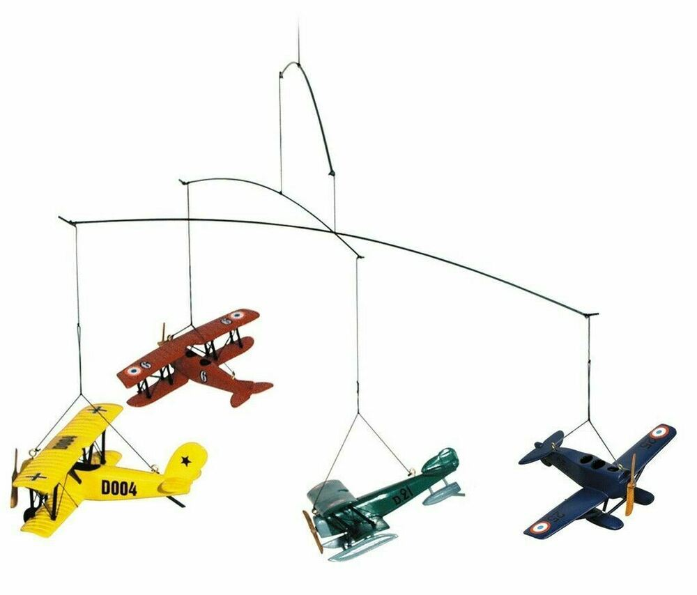 mobile hanging 1920 biplane flight seaplane airplanes by authentic models new ebay. Black Bedroom Furniture Sets. Home Design Ideas