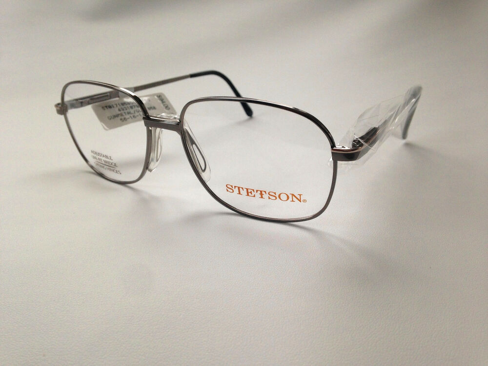 1445d817c4d0 Details about Stetson Collection 171 Gunmetal Gold Glasses
