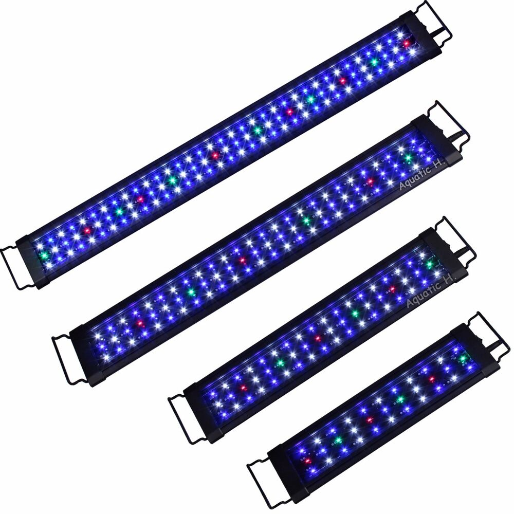 aquarium full spectrum multi color led light 12 18 24. Black Bedroom Furniture Sets. Home Design Ideas