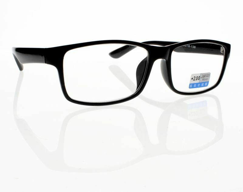 Large Frame Retro Reading Glasses : TR90 Retro Large Black Frame Clear Lens Unisex Reading ...