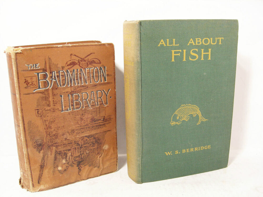 Vintage antique the badminton library fishing all about for Fishpond books