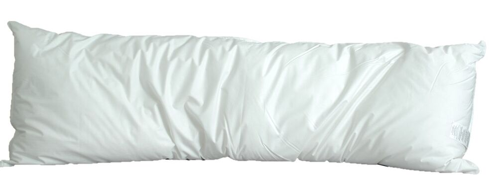 White Goose Feather Down Body Pillow Size 20 Quot X 60 Quot Ebay