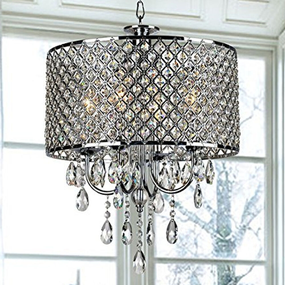 New Fashion Crystal Shade Ceiling Lamp Pendant Light Drop