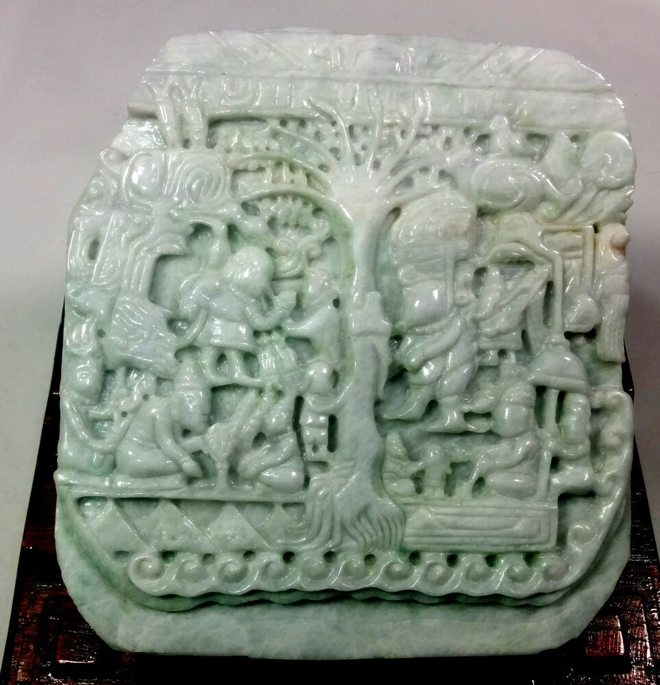 Tree Of Life Solid Jadeite Pre Columbian Mayan Style