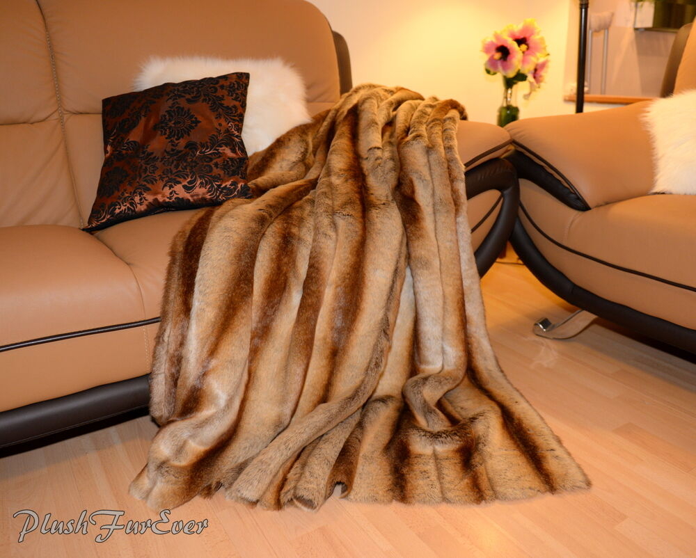 Light Brown Chinchilla 60 Quot 72 Quot 84 Quot Fur Bed Sofa Couch