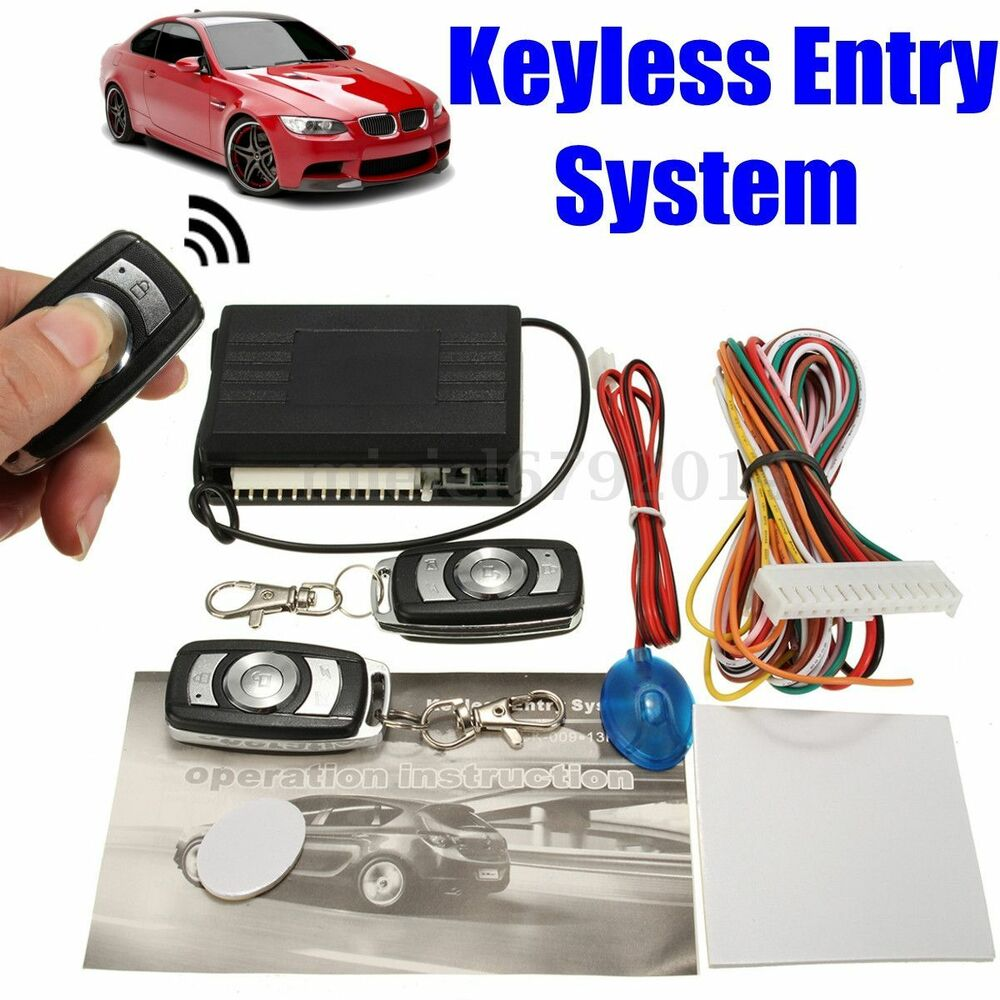 Universal car keyless entry system remote fob central for Keyless entry system