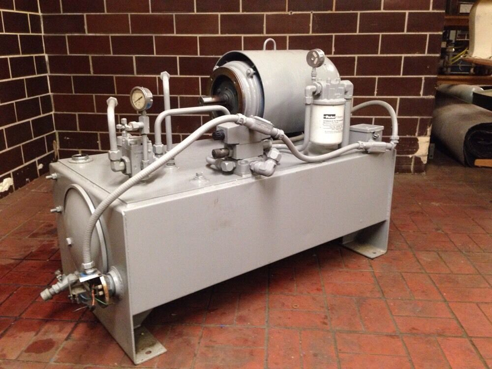 Parker hydraulic oil power unit parker pump lincoln for Hydraulic pump motor units