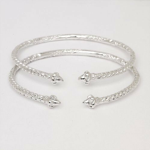 Pointy Ends 925 Sterling Silver West Indian Bangles Made In Usa Ebay