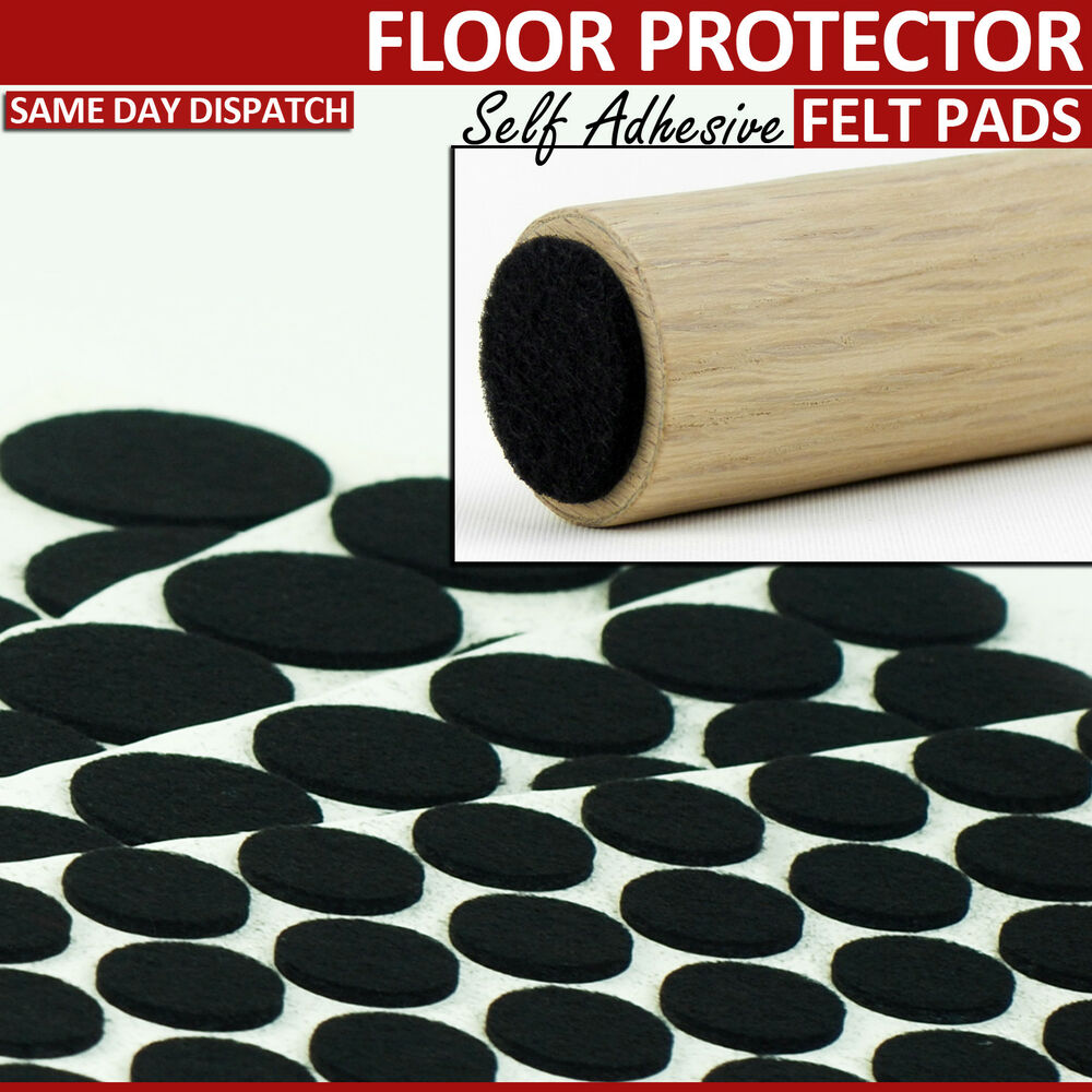 Black felt furniture pads self adhesive floor laminate for Chair leg pads for laminate floors