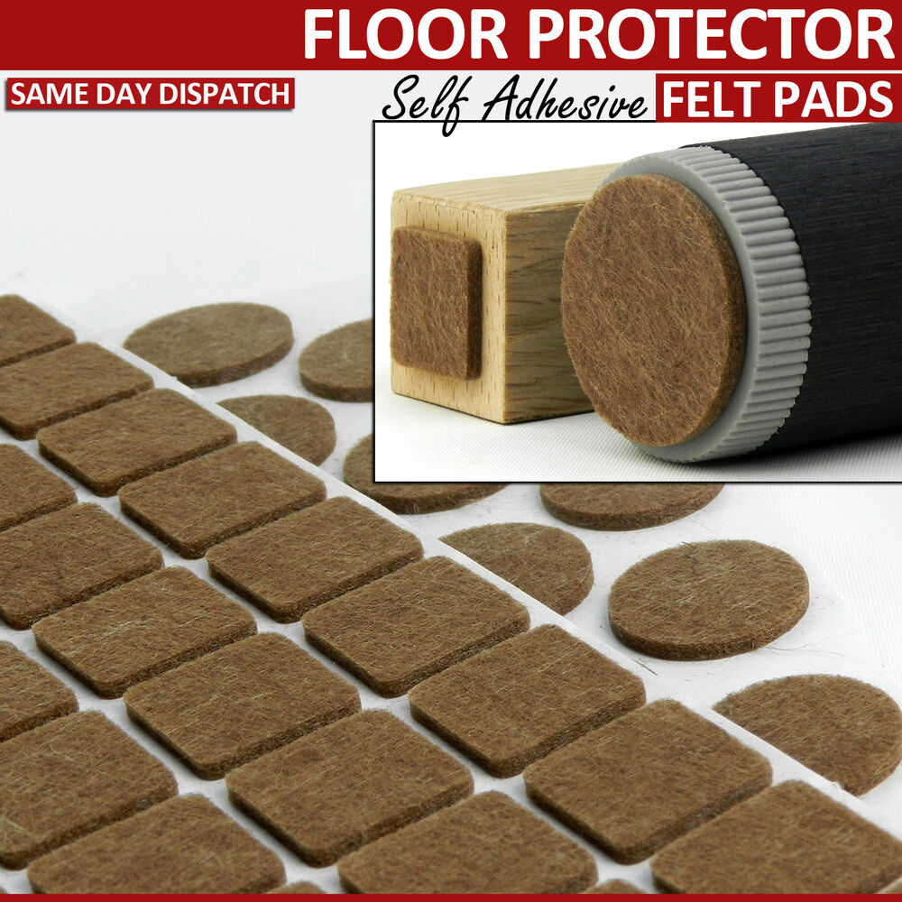 Real felt furniture pads self adhesive floor laminate for Chair leg pads for laminate floors
