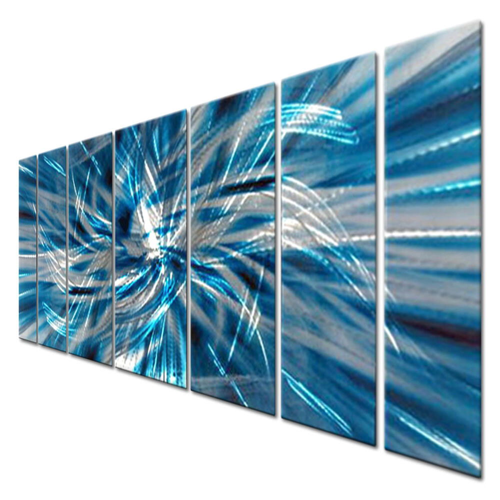 Large modern metal wall decor by artist ash carl for Contemporary decorative accessories