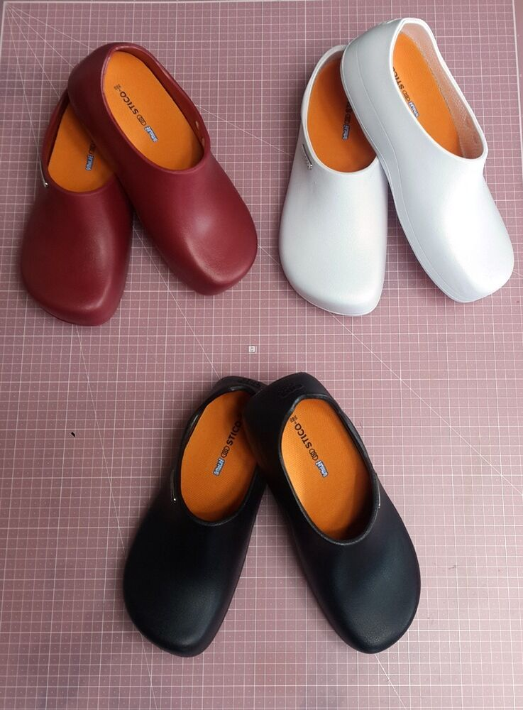 non slip shoes resistant non marking clogs for kitchen