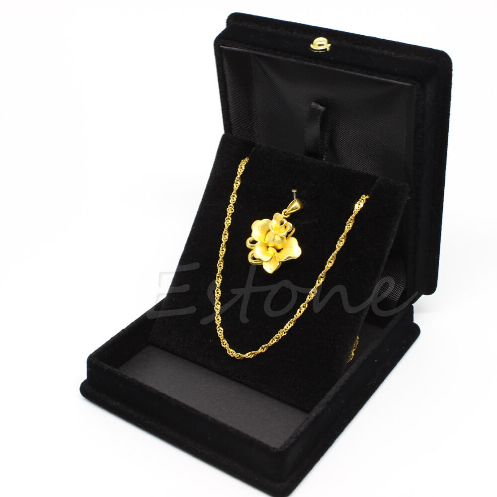 handy velvet necklace jewelry gift display box ring. Black Bedroom Furniture Sets. Home Design Ideas