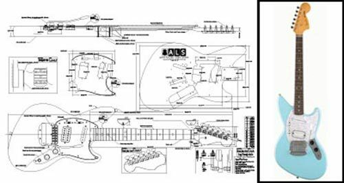 jagstang electric guitar full scale plan