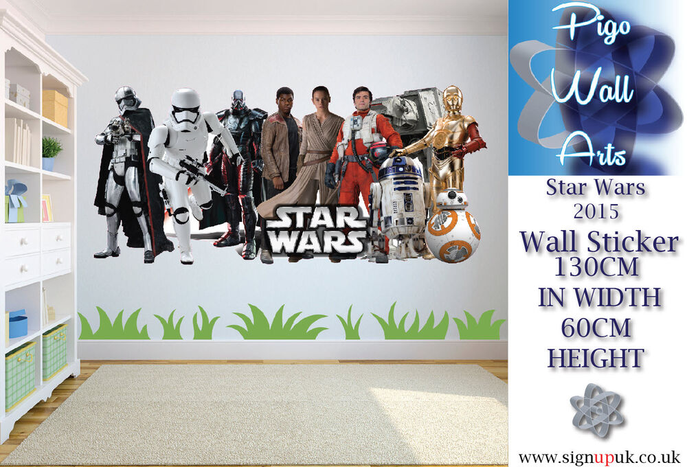 star wars wall sticker kids bedroom wall decal xx large cartoon kids wall stickers height wall decals vinyl