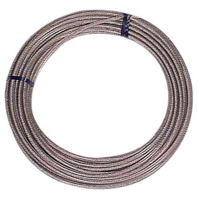 Heavy Duty Galvanized Vinyl Coated Clothesline Cable 50ft