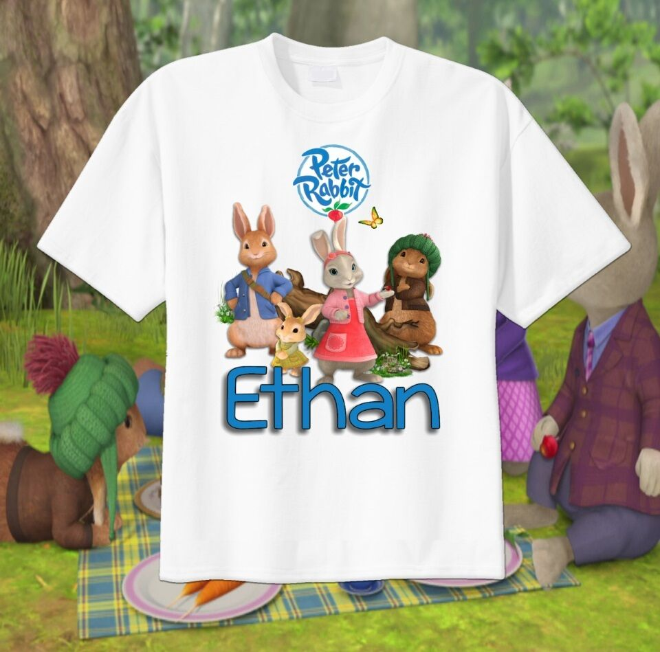 peter rabbit cottontail custom t shirt personalize tshirt
