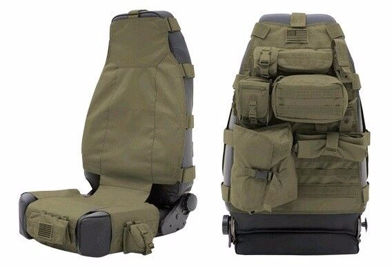 Smittybilt G.E.A.R. MOLLE Front Seat Cover W/ 7 Pouches 07