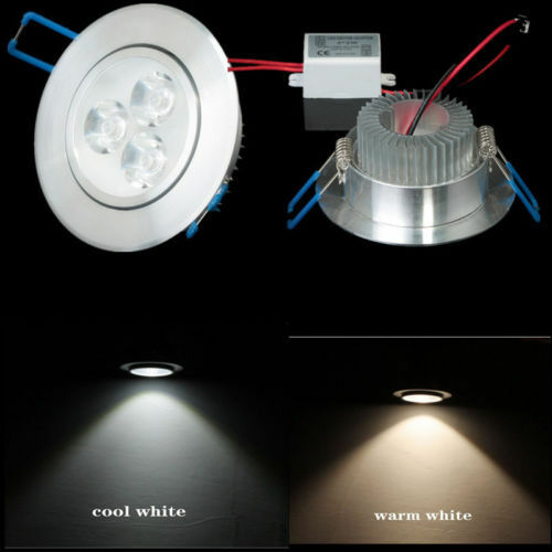 new 3w led recessed ceiling down light bulb lamp downlight warm cool white ebay. Black Bedroom Furniture Sets. Home Design Ideas