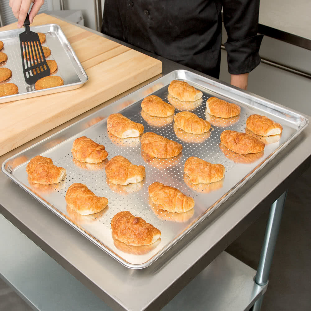 12 Pack Choice Perforated Full Size Aluminum Sheet Pan 18