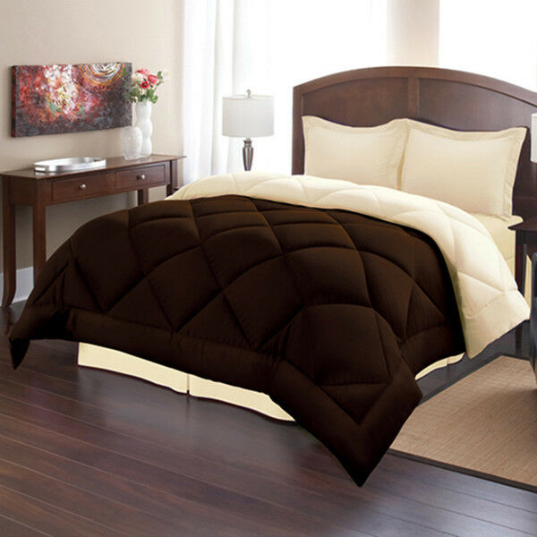 forter Set King Size Chocolate Cream Reversible Bed in