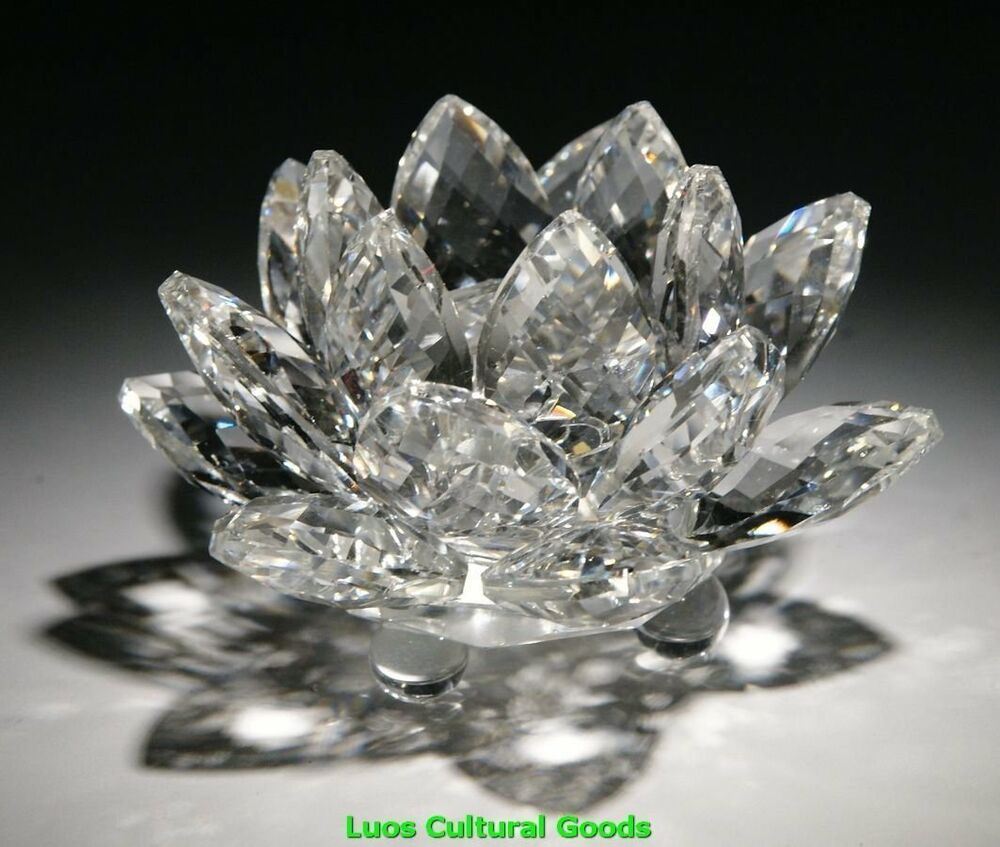 Crystal Home Decor: Crystal Lotus Flower Home Decor Decoration Gift Clear New