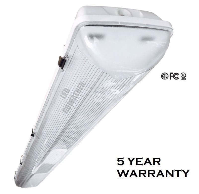 4 Foot 5500 Lumens 44 Watt LED Shoplight Room/Garage Work
