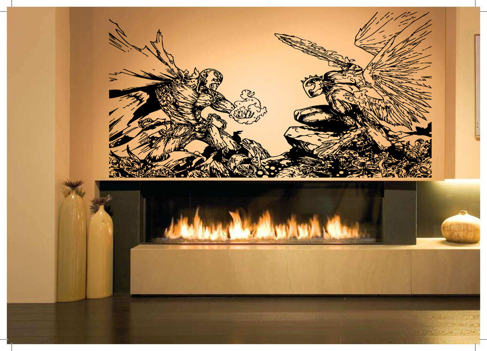 Spawn angel fight sticker wall room decor art vinyl decal for Decorative mural