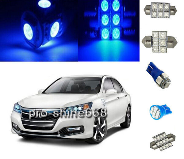 12pcs blue led lights interior package kit for honda - 2015 honda accord interior illumination ...