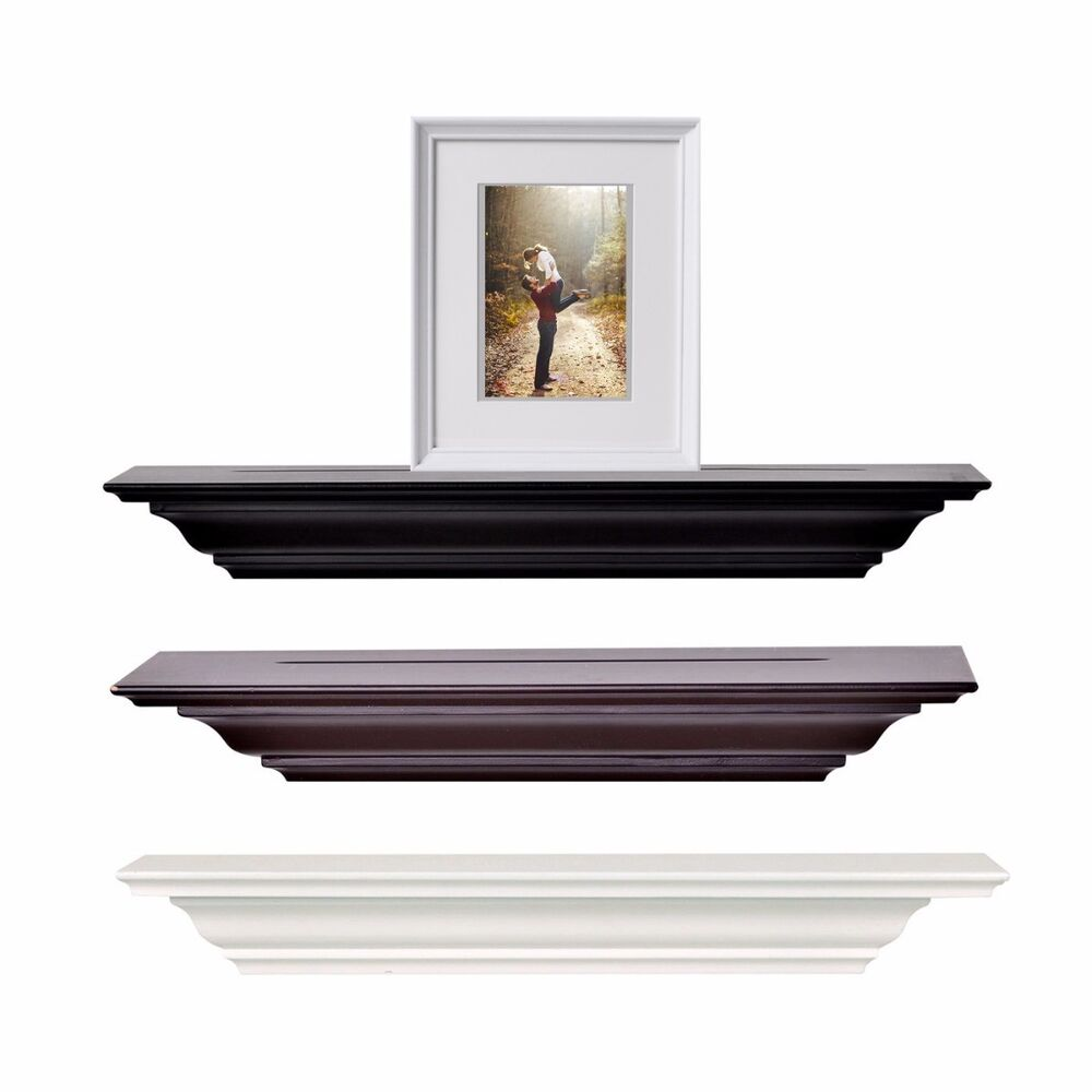 Welland corona crown molding wall shelf 18 inch espresso for 9 inch crown molding