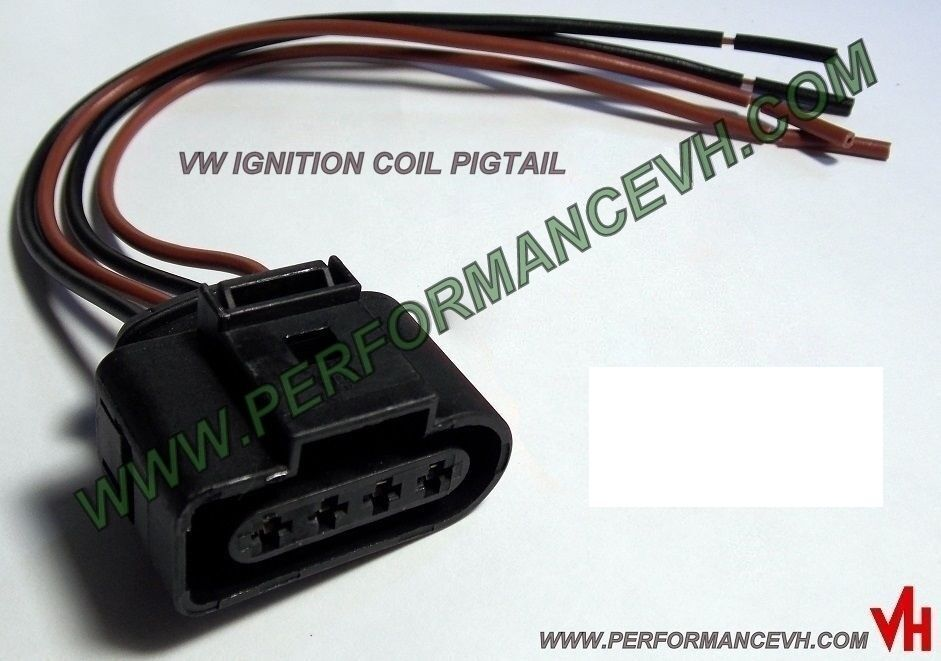 Ignition Coil Wiring Harness Repair Kit : Audi vw ignition coil connector repair harness plug wiring