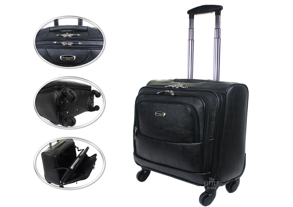 Wheeled laptop briefcase business office bag trolley case for Laptop cabin bag