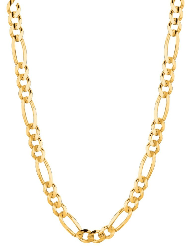 10kt Solid Gold Figaro Curb Link Chain Necklace 18 Quot 4 Mm 6