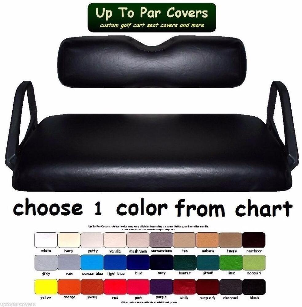 e z go club car yamaha models custom golf cart seat covers marine grade vinyl ebay. Black Bedroom Furniture Sets. Home Design Ideas