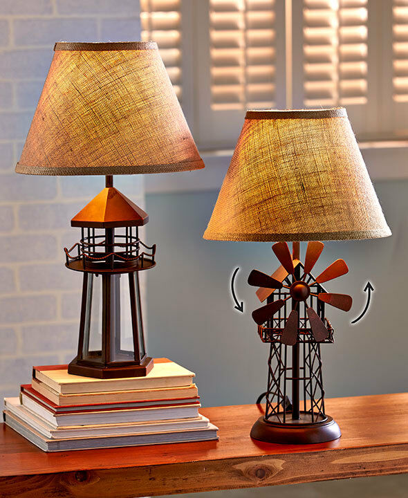 Nuatical Seaside Lighthouse Table Lamp 3d Windmill Shaped