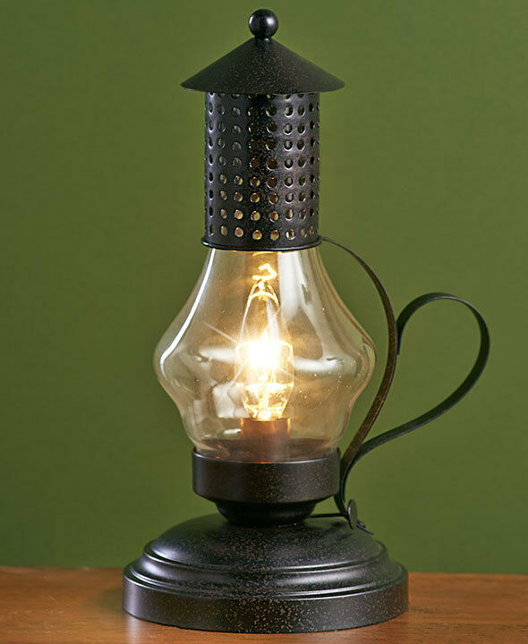 Hurricane Metal Table Lamps Vintage Old Fashion Antique Finish Accent Lamp Ebay