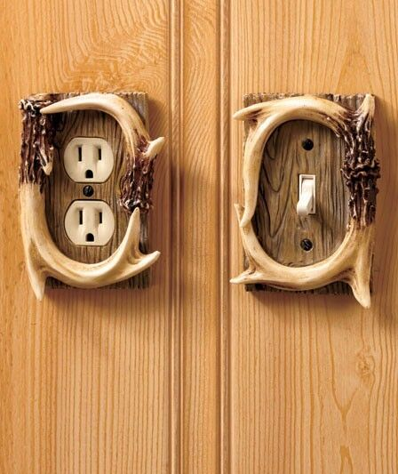 Decorative Antler Outlet Cover Switch Cover Rustic Cabin