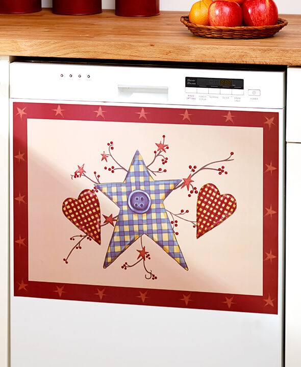 primitive hearts amp stars dishwasher magnet cover country