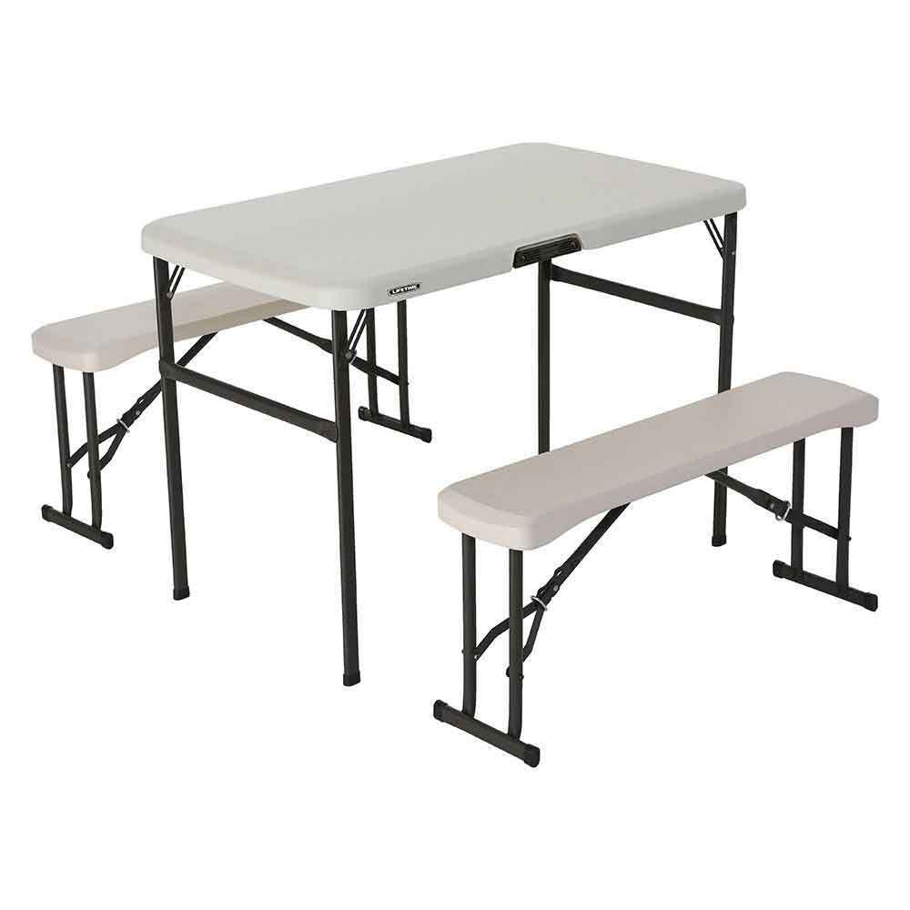 Lifetime Portable Folding Picnic Camp Table Chair Bench Set Durable Lightweight Ebay